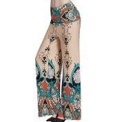 Paymenow Women High Waist Print Floral Wide Leg Pants Long Palazzo Pants