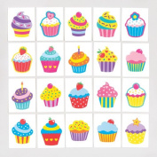 Cool Cupcakes Temporary Tattoos for Children - Fun Toy Party Bag Filler Loot Gifts for Kids