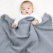 mimixiong Baby Cellular Blankets Autumn Knitting Pattern Swaddle Wrap Blanket For Newborn Winter Warm Stroller Bedding Mat Candy Colour Mat
