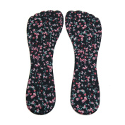 sourcingmap® 1 Pair Black Gel Flower Pattern High Heel Liner Pad Foot Shoes Protect Insole