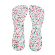 sourcingmap® 1 Pair White Gel Flower Pattern High Heel Liner Pad Foot Shoes Protect Insole