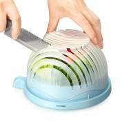 BasicForm Salad Cutter Bowl - Enjoy Perfect Salad in 60 Seconds