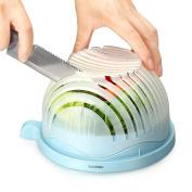 BasicForm Salad Cutter Bowl - Enjoy Perfect Salad in 60 Seconds
