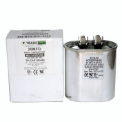 20 MFD Capacitor Replaces Both 440 and 370 Volt Oval Run Capacitors