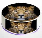 Cheetah Cake Topper. Round Cake Topper. Edible Rice Paper Wafer 19cm cake topper with FREE Banner!