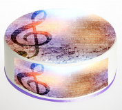 Music Notes Cake Topper. Round Cake Topper. Edible Rice Paper Wafer 19cm cake topper with FREE Banner!