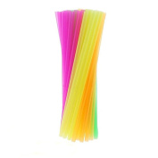 500pcs COLOURFUL JUMBO STRAWS STRAIGHT WIDE SHAKE SMOOTHIE PARTY KIDS LARGE