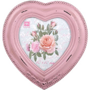 Chic Wooden Photo Picture Frame Pink Heart Vintage Victorian Antique Style 10cm x 10cm