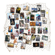 RECESKY Fishing Net Photo & Artwork Hanging Display - Family Pictures Children Artwork and Painting Display - Home Party Bedroom Wall Decorations - Multi Picture Frames Collage Decor