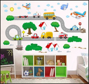 VEHICLES CARS PLANES Kids Children Room Wall Stickers Decal Wall