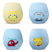 Ateid 4 Pack Baby Boy Cotton Potty Training Pants, 1-2 Years