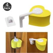 4 Pcs Baby Kids Proofing Safety Finger Pinch Hinge Door Guard Stopper