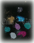 50g Silver Holographic Glitter Dust SILVER (Irisierender Rainbow Effect) Fine Cute Nails