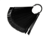 Black tips Display with 48 Tips Colour Pop Sticks Nail Art Display Fan Ring RM Beauty Nails