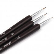 WayGo 3Pcs Dotting Painting Drawing UV Gel Liner Polish Brush Tool Nail Art Pen