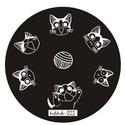 WayGo Nail Art Image Stamp Stamping Plates Manicure Template Hehe Series 022
