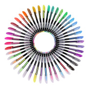 DaoRier 48 Packs Colour Gel Pen for Adult Colouring Books Draw and Write
