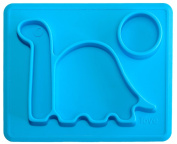 """Lilly's Love Premium Placemat Silicone - For Kids! """" THE DINO PAD"""" From Freezer to Microwave to Table. This Toddler Dinosaur Silicone Plate Fits in a Ziplock Bag, Making It the BEST Silicone Place Mat"""