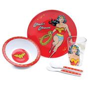 Bumkins DC Comics Toddler Mealtime Feeding Set, Wonder Woman