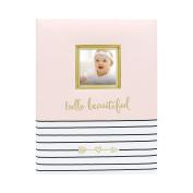Pearhead Hello Beautiful Keepsake Baby Memory Book and Photo Journal, Pink