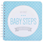 "NEW! Baby First Year Memory Mini Book for a Single Mom Family. Aqua Lagoon ""Modernista""(TM), Poly Cover. Intimate, travel size memory keeper record book and journal. 13cm x 13cm - Best Shower Gift!"