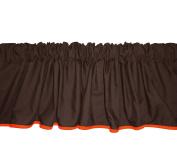 Baby Doll Bedding Solid Reversible Window Valance, Brown/Orange