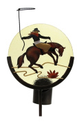 Iwgac Home Indoor Outdoor Decor Horse Silhouette Candle Holder Garden Stake
