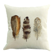 Vovomay Feather Home Decorative Throw Pillow Cover Cushion Case Square Pillowslip For Home Decor 46cm X 46cm