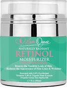 Anti Ageing Retinol Cream Moisturiser for Face & Eyes Reduce Fine Lines & Wrinkles Age Spots Acne Scars Evens Skin Tone Natural & Organic Hyaluronic Acid Vitamin E-B5 Green Tea Use Day & Night 50ml