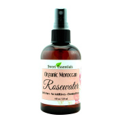 Premium Organic Moroccan Rose Water - 120ml W/Sprayer - Imported From Morocco - 100% Pure (Food Grade) No Oils or Alcohol - Rich in Vitamin A & C Perfect for Hydrating & Rejuvenating Your Face & Neck