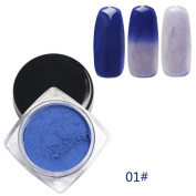 DEESEE(TM) 12 Colours Thermochromic Thermal Change Temperature Powder Dust Gradient Nail Art