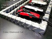 Salon Barber CLIPPER Table Top Tray w/ 5 Notches In (DIAMOND CUT) + Free YS Park Chignon Clips
