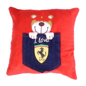 Ferrari Teddy Bear Denim Pocket Cushion 30 x 30cm KIDS
