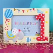 Beautiful Baby Colourful 1st Birthday Keepsake Photo Frame