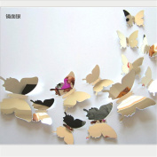 XMJR 3D stereo mirror Butterfly Stickers room Home Furnishing high-end accessories acrylic mirror 12 Butterfly