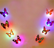 XMJR 8 pack LED 3D stereo luminous colourful self-adhesive stickers children room wall decoration simulation Butterfly Stickers creative
