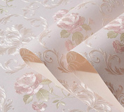 Fine 3d 3d Pastoral Flowers Wallpaper Nonwovens Wallpaper Bedroom Living Room TV Background Wallpaper,C
