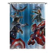 Marvel Captain America Civil War Sides of War Shower Curtain, 180cm x 180cm