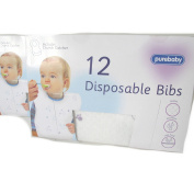 Pure Baby 24 Disposable Bibs with Crumb Catcher Design