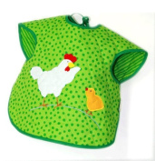 Wild Hen Bib with Sleeves