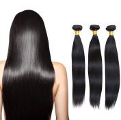 J-Beauty 6A Brazilian 100% Unprocessed Straight Virgin Human Hair Weaves 20cm - 80cm Natural Colour Hair Extensions