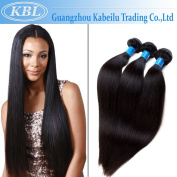 KBL 100% Unprocessed Brazilian Virgin Straight Hair 3 Bundles 100% Unprocessed Human Hair Extensions Natural Black Colour