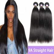 Kapelli Hair 9A Brazilian Straight Hair Unprocessed Virgin Remy Human Hair extensions Weave Weft 3 Bundles/lot, 300 Gramme 25cm - 80cm Natural Colour