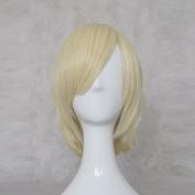 Yuri Yurio YURI!!! on ICE Light Gold 35cm Cosplay Wig + Free Wig Cap