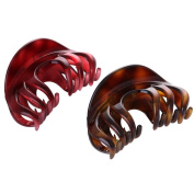 Yishenyishi No-slip Grip Large Crystal Plastic Octopus Jaw Clips Hair Claw Banana Clips for Women
