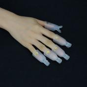 Elite99 Professional 10pcs Durable Reusable Plastic Nail Art Polish Soak Off Remover Wrap Cleaner Clip Cap Tool