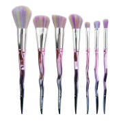 Makeup Brushes 7pcs Face Powder Foundation Set, SEPROFE Eyeshadow Eyebrow Concealer Maquillage Tool Kits,Spear-Shaped Handle With Gradient Rainbow Soft Hair Cosmetics, Blush Blending Contour Make Up