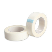 2 Rolls Breathable Non-woven Cloth Adhesive Tape Eyelash Lash Extension Medical Tape