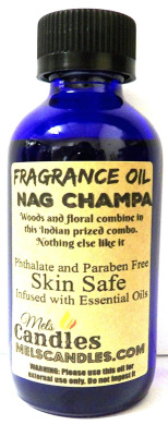 Nag Champa 4oz / 118.29ml Blue Glass Bottle of Premium Grade A Fragrance Oil/essential oil, Skin Safe Oil, Use in Candles, Soap, Lotions, Etc