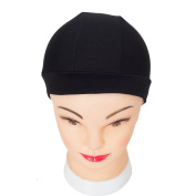 YUOIOYU 2 pcs Glueless Hair Net Wig Liner Cheap Wig Caps For Making Wigs Spandex Net Elastic Dome Wig Cap